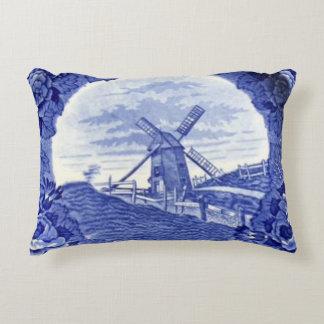 Nantucket Blue & White China  Windmill pillow