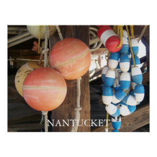 Nantucket Bouys 2 Poster