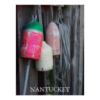 Nantucket Bouys 3 Poster