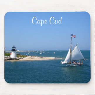 Nantucket Cape Cod Lighthouse & Harbor Mousepad