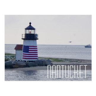 Nantucket Harbor Lighthouse Postcard
