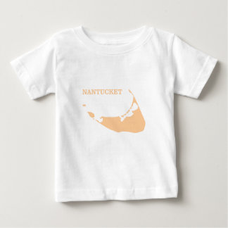 Nantucket Island in Sand Baby T-Shirt