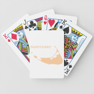 Nantucket Island in Sand Bicycle Playing Cards
