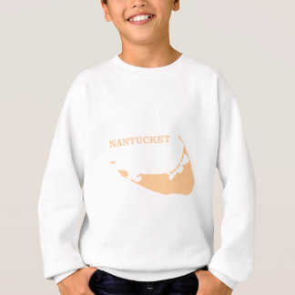 Nantucket Island in Sand Sweatshirt