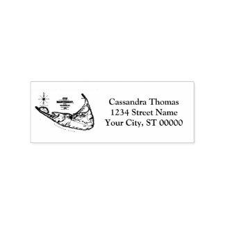 Nantucket Island MA Vintage Map Navy Blue Rubber Stamp