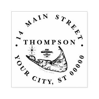 Nantucket Island MA Vintage Map Rubber Stamp