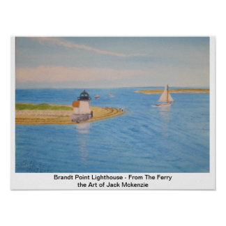 Nantucket Lighthouse II - A View From the Ferry Poster