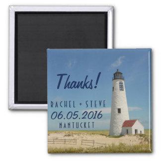 Nantucket Lighthouse Wedding Favor Thanks Magnets