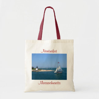 Nantucket Massachusetts Lighthouse & Harbor Tote