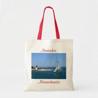 Nantucket Massachusetts Lighthouse & Harbour Tote