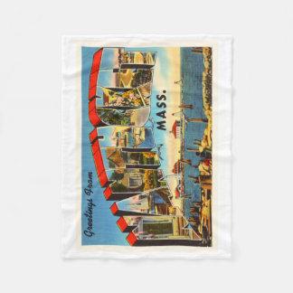 Nantucket Massachusetts MA Vintage Travel Souvenir Fleece Blanket