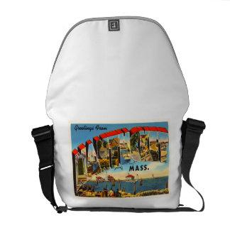 Nantucket Massachusetts MA Vintage Travel Souvenir Messenger Bag