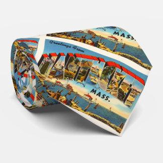 Nantucket Massachusetts MA Vintage Travel Souvenir Tie