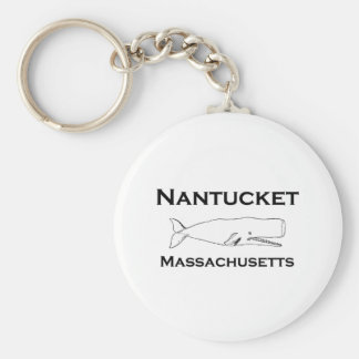 Nantucket Massachusetts Whale Keychain