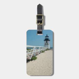 Nantucket. Old Wooden Lighthouse Luggage Tag