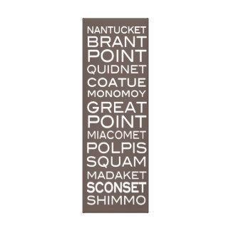 Nantucket Places Slate Brown & White Wall Decor