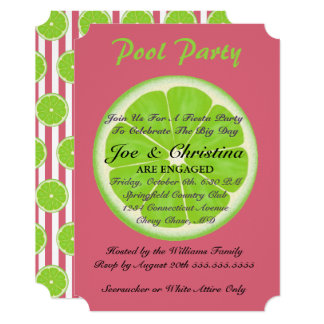 Nantucket Red And Limes Fiesta Cocktail Party Card