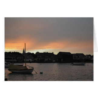Nantucket Sunset Card