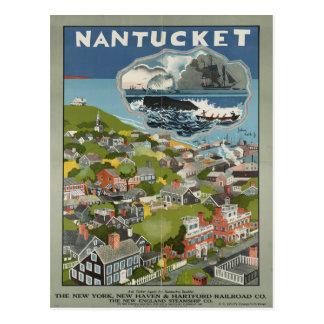 Nantucket Vintage Travel Postcard
