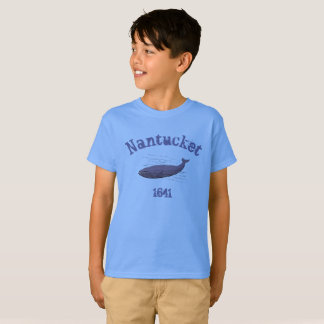 Nantucket, whale, 1641 t-shirt for boys