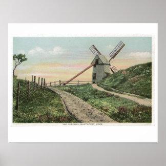 Nantucket Windmill Poster