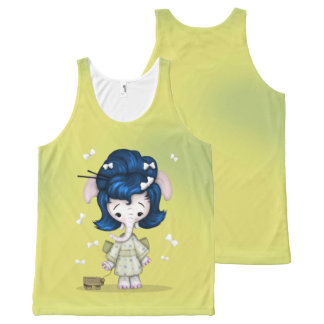 NAOMI CUTE 2 ALIEN All-Over Printed Unisex Tank