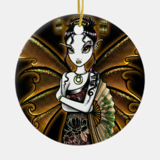 """Naomi"" Oriental Fan Fairy Ornament"