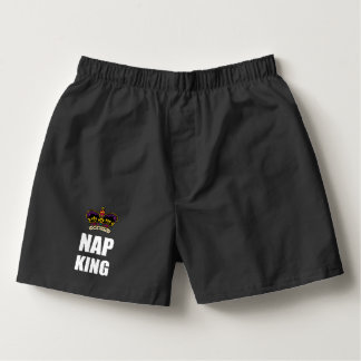 Nap King White Boxers