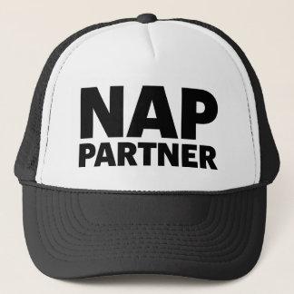 NAP PARTNER fun slogan trucker hat
