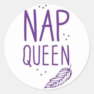 nap queen classic round sticker