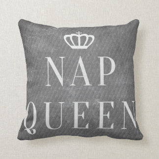 Nap Queen Funny Cool Trendy Throw Pillow