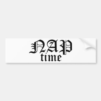 Nap Time Bumper Sticker
