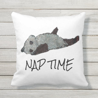 Nap Time Panda Outdoor Pillow