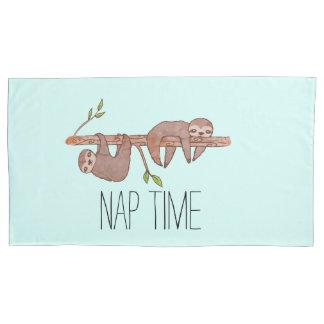 Nap Time Reversible Sleepy Cute Sloths Pillowcase