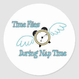 Nap Time Round Sticker