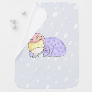 Nap Time With Baby Giraffe Baby Blanket