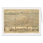 Napa, CA. Panoramic Map (0684A) Greeting Card