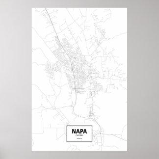 Napa, California (black on white) Poster