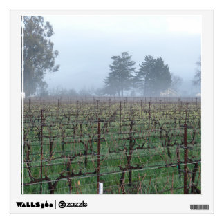 Napa Fog scene Wall Decal