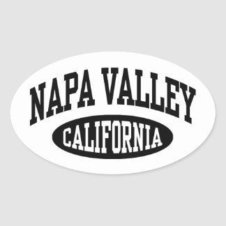 Napa Valley California Oval Sticker