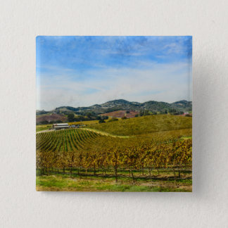 Napa Valley California Vineyard 2 Inch Square Button