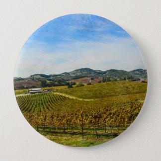 Napa Valley California Vineyard 4 Inch Round Button