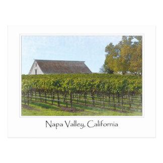 Napa Valley California Vineyard and Barn Postcard