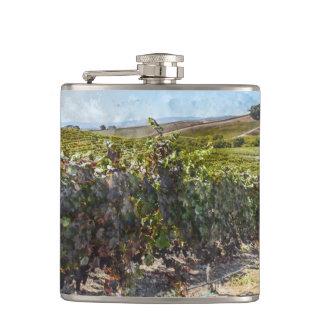 Napa Valley California Vineyard Flask