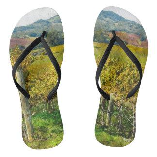 Napa Valley California Vineyard Flip Flops