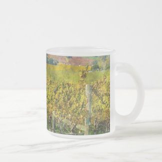Napa Valley California Vineyard Frosted Glass Coffee Mug