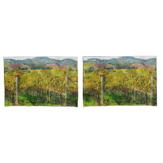 Napa Valley California Vineyard in the Fall Pillowcase