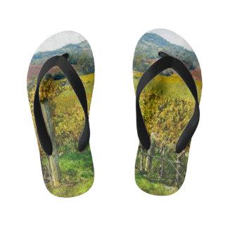 Napa Valley California Vineyard Kid's Flip Flops