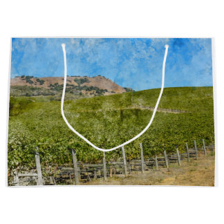 Napa Valley California Vineyard Large Gift Bag