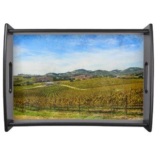 Napa Valley California Vineyard Serving Tray